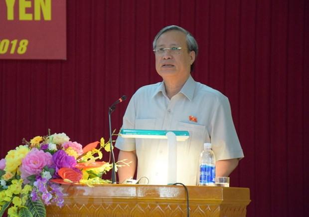 Thuong truc Ban Bi thu Tran Quoc Vuong lam viec tai Quang Ngai hinh anh 1