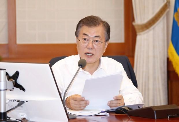 Tong thong Han Quoc Moon Jae-in thuc hien cuoc cai to noi cac dau tien hinh anh 1