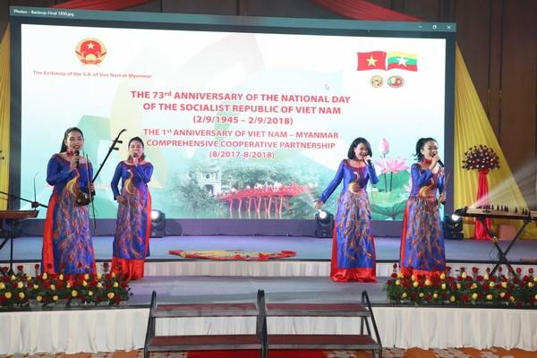 Sac mau van hoa Viet trong le ky niem Quoc khanh tai Myanmar hinh anh 2
