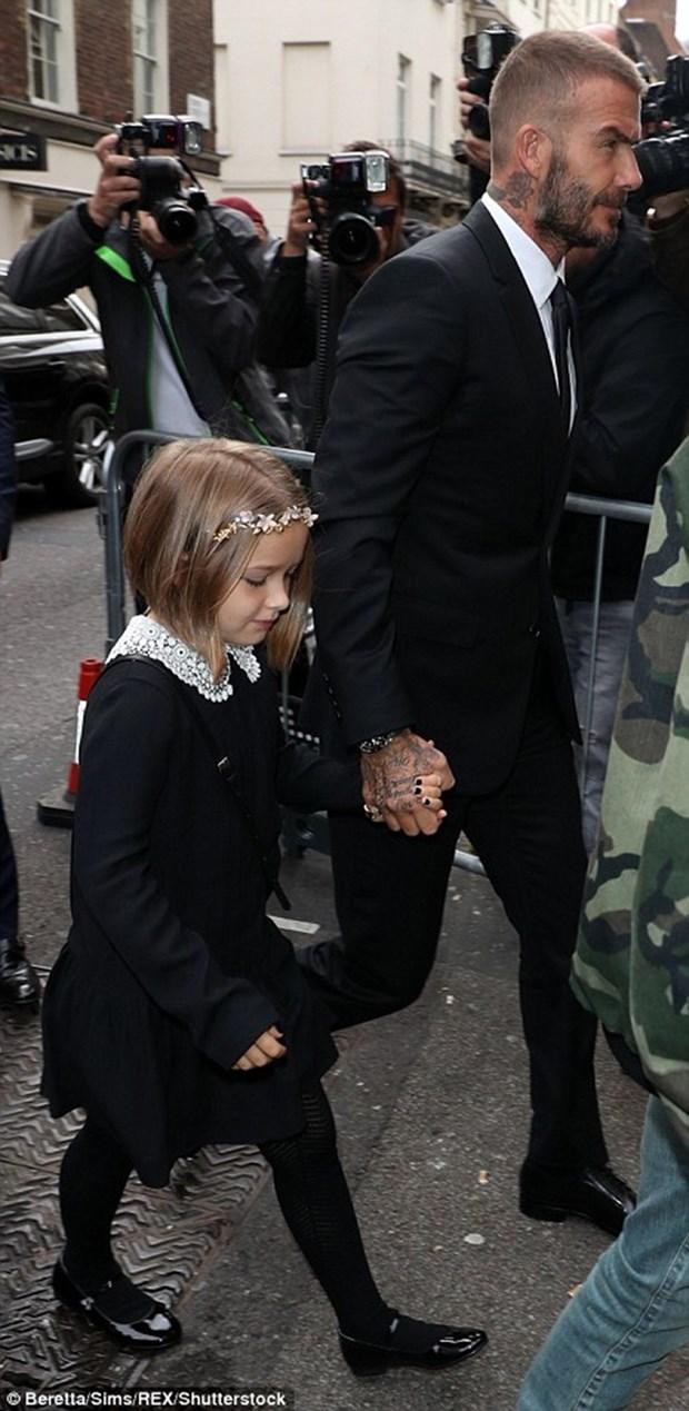 Dai gia dinh Beckham tro thanh tam diem tai Tuan le thoi trang London hinh anh 6