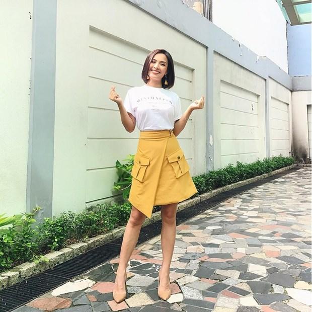 "Hoa hau My Linh, Jolie Nguyen khoe street style du lich ""sang chanh"" hinh anh 14"