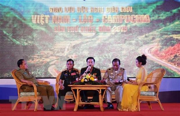 Giao luu huu nghi bien gioi Viet-Lao-Campuchia lan thu nhat nam 2018 hinh anh 1