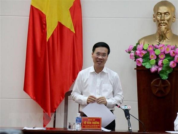 Truong ban Tuyen giao Trung uong lam viec voi Tap chi Cong san hinh anh 1