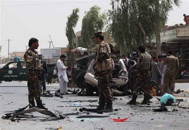 Taliban tan cong mot tram kiem soat Afghanistan, bat coc 10 canh sat hinh anh 1