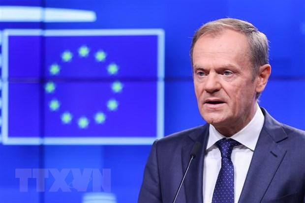 Chu tich EC de nghi 27 lanh dao EU thong qua thoa thuan Brexit hinh anh 1