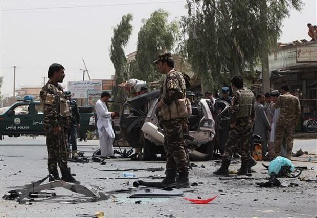 Danh bom lieu chet nham vao luc luong an ninh Afghanistan hinh anh 1