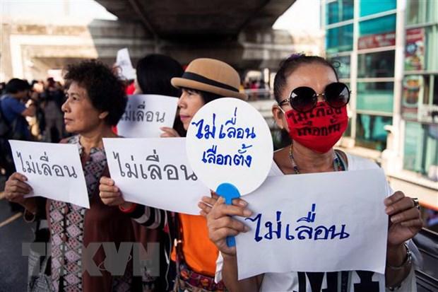 Thai Lan: Cac nha hoat dong dan chu bieu tinh phan doi tri hoan bau cu hinh anh 1