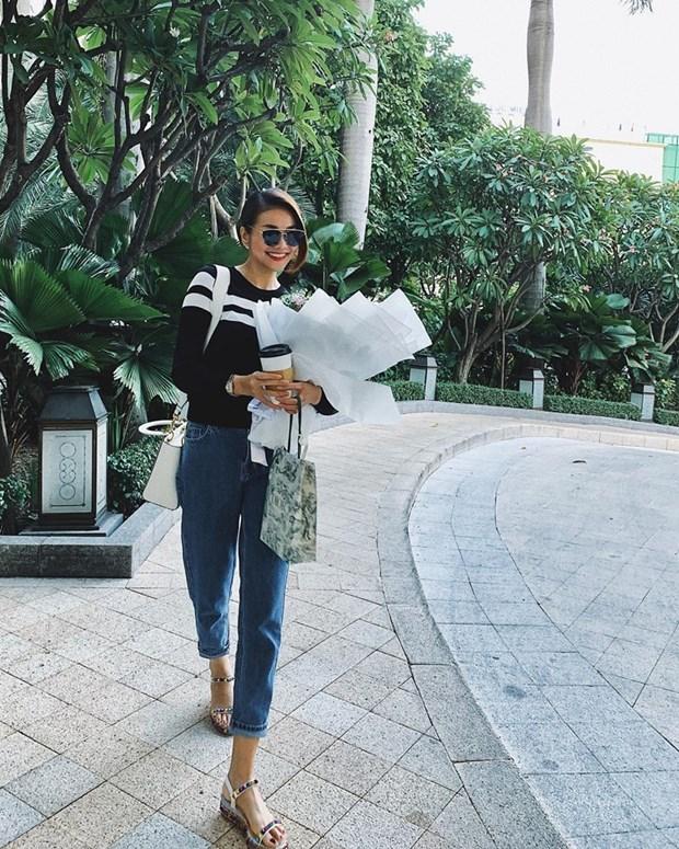 Dai tiec street style cua dan sao Viet truoc them Tet Nguyen dan hinh anh 3