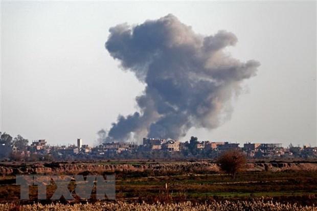 Syria: Lien quan khong kich thanh tri cuoi cung cua IS, 16 dan tu vong hinh anh 1