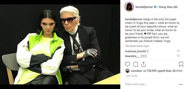 Kendall Jenner, G-Dragon va sao quoc te tiec thuong Karl Lagerfeld hinh anh 3