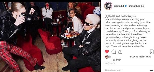 Kendall Jenner, G-Dragon va sao quoc te tiec thuong Karl Lagerfeld hinh anh 12