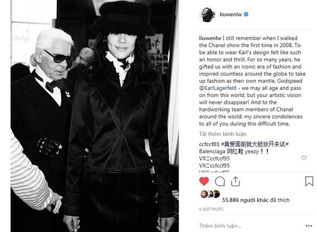 Kendall Jenner, G-Dragon va sao quoc te tiec thuong Karl Lagerfeld hinh anh 16