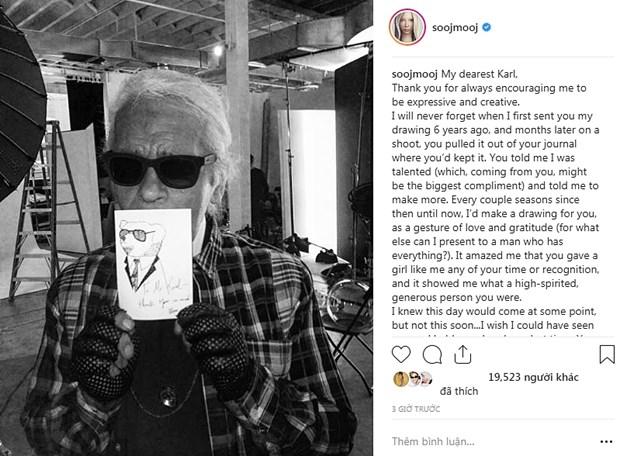 Kendall Jenner, G-Dragon va sao quoc te tiec thuong Karl Lagerfeld hinh anh 17