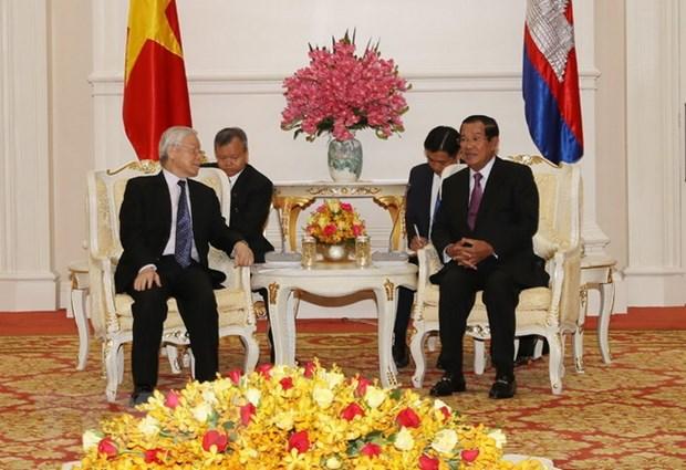 Bao chi Campuchia danh gia chuyen tham cua Tong Bi thu, Chu tich nuoc hinh anh 1