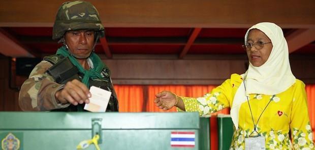Ket qua bau cu o Thai Lan se duoc cong bo ngay trong ngay bo phieu hinh anh 1