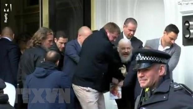[Video] Ecuador bi tan cong mang don dap sau vu bat giu J. Assange hinh anh 1
