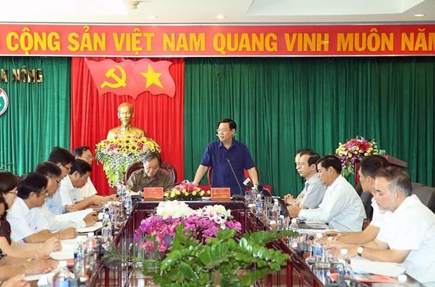 Doan kiem tra Bo Chinh tri lam viec tai Dak Nong ve cong tac can bo hinh anh 1