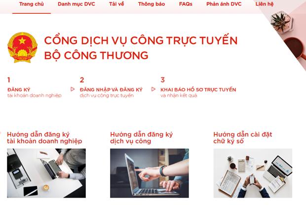 Bo Cong Thuong giam thieu thoi gian, chi phi trong khai bao truc tuyen hinh anh 1