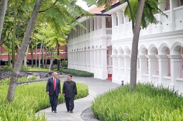 Trieu Tien hoan ky niem cuoc gap thuong dinh My-Trieu tai Singapore hinh anh 1