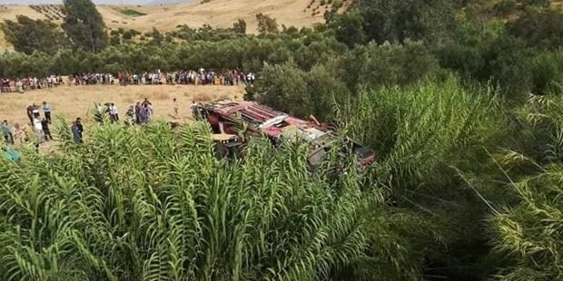 Lat xe khach tai Maroc khien gan 50 nguoi thuong vong hinh anh 1