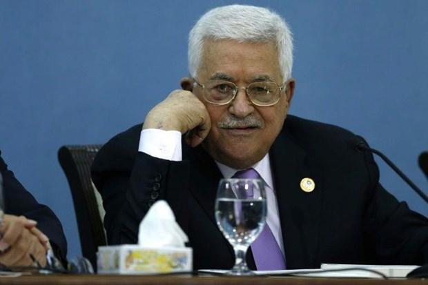 Tong thong Palestine toi tham mot trai ti nan o khu vuc Bo Tay hinh anh 1