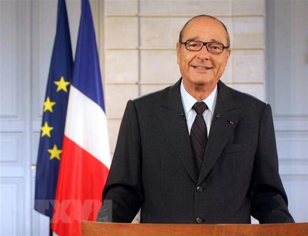Lanh dao Phap va the gioi ca ngoi cuu Tong thong Jacques Chirac hinh anh 1