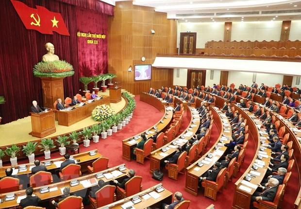 Ngay lam viec thu ba hoi nghi lan 11 Ban Chap hanh Trung uong Dang hinh anh 1