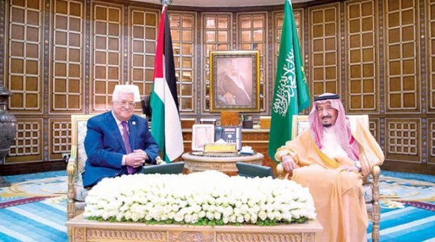 Quoc vuong Saudi Arabia hoi dam voi Tong thong Palestine hinh anh 1