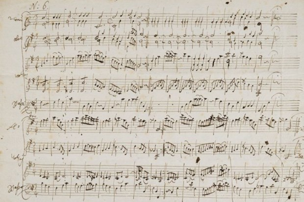 Ban dau gia ban nhac viet tay hoi tre cua thien tai soan nhac Mozart hinh anh 1
