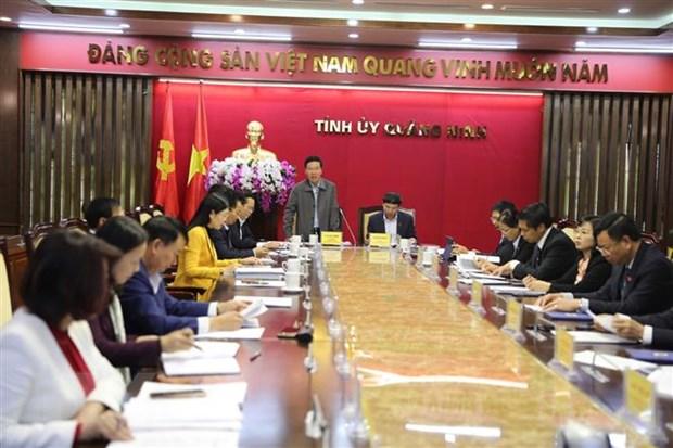 Doan kiem tra Bo Chinh tri lam viec voi Thuong vu Tinh uy Quang Ninh hinh anh 1