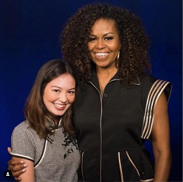 Cuu de nhat Phu nhan My Michelle Obama dien trang phuc cua Cong Tri hinh anh 1