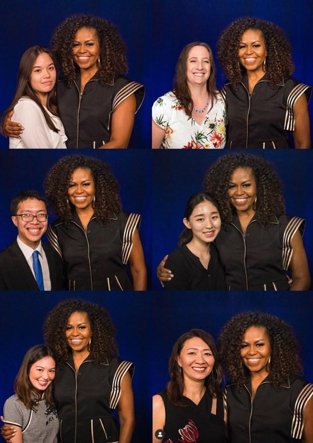 Cuu de nhat Phu nhan My Michelle Obama dien trang phuc cua Cong Tri hinh anh 2