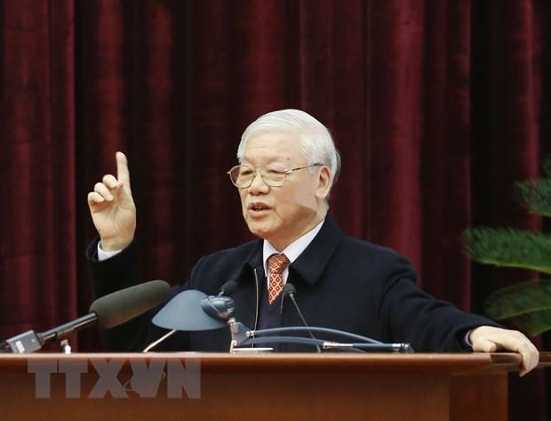 Bo Chinh tri gap mat nguyen lanh dao cap cao cua Dang, Nha nuoc hinh anh 2