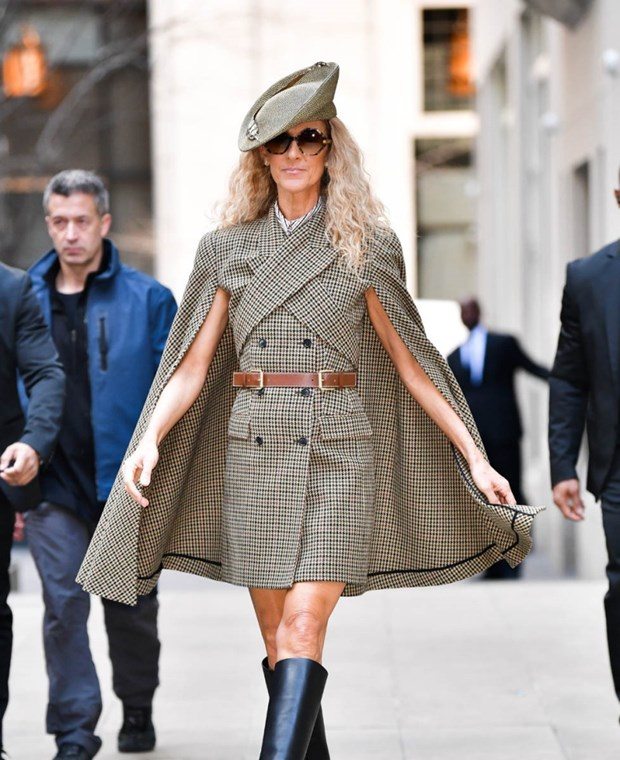 Celine Dion bien duong pho New York thanh san catwalk cua rieng minh hinh anh 14