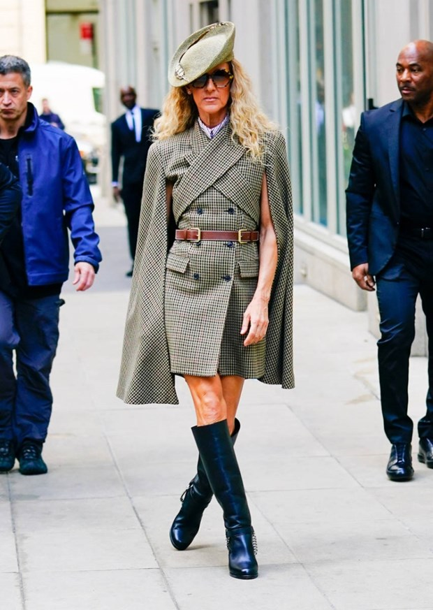 Celine Dion bien duong pho New York thanh san catwalk cua rieng minh hinh anh 12