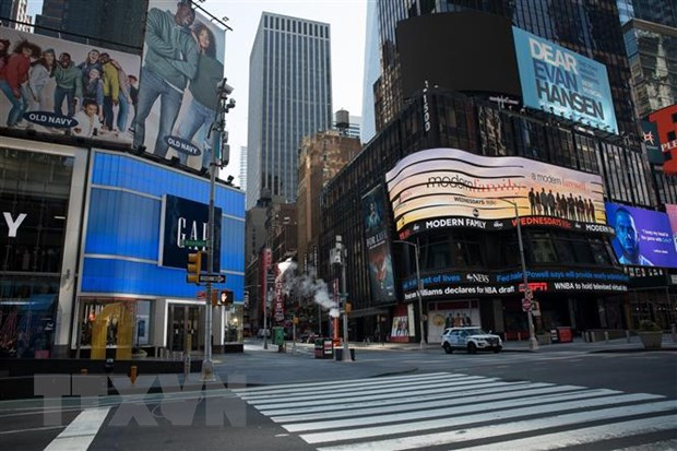 Bau cu My 2020: Bang New York hoan bau cu so bo do dai dich COVID-19 hinh anh 1