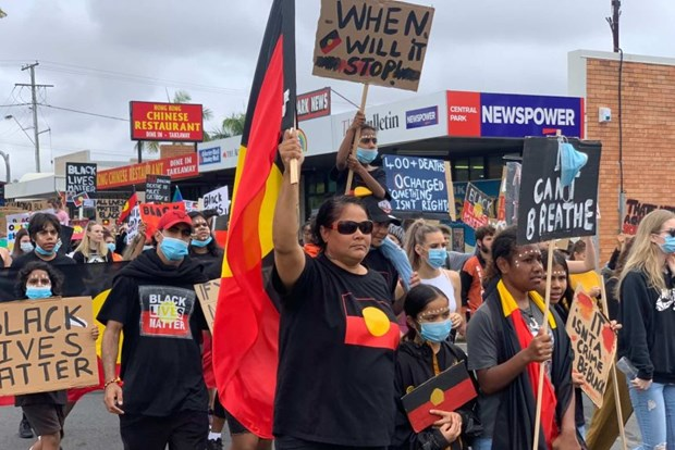 Australia: Hang nghin nguoi tham gia bieu tinh ung ho nguoi da mau hinh anh 1