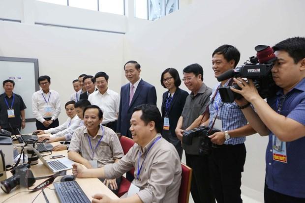 [Photo] TTXVN khong ngung doi moi, nang cao chat luong thong tin hinh anh 22