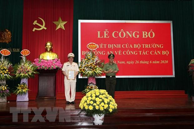 Dai ta Nguyen Quoc Hung giu chuc vu Giam doc Cong an tinh Ha Nam hinh anh 1