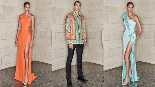 Versace mang mau sac hoi hoa truu tuong duong dai vao bo suu tap moi hinh anh 3