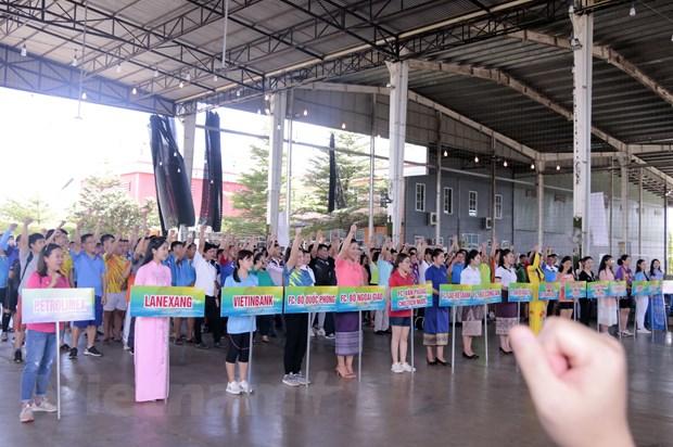 250 van dong vien tham gia giao luu the thao doan ket Viet Nam-Lao hinh anh 1