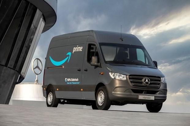 Amazon dat mua 1.800 xe tai chay bang dien cua Mercedes-Benz hinh anh 1