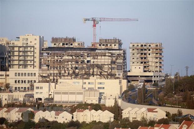 Các tòa nhà đang được xây dựng tại khu định cư Efrat ở thành phố Bethlehem, Bờ Tây. Ảnh: AFP/TTXVN