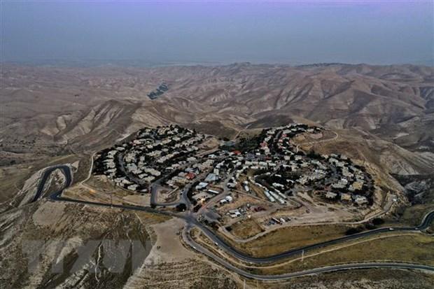 Toàn cảnh khu định cư Alon của Israel ở phía đông Jerusalem thuộc khu Bờ Tây bị chiếm đóng. Ảnh: AFP/ TTXVN