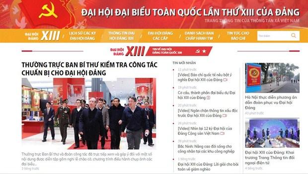 TTXVN lan toa kip thoi, chinh xac tin chinh thong ve Dai hoi Dang hinh anh 1