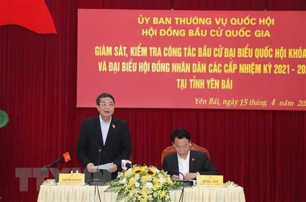 Pho Chu tich Quoc hoi kiem tra cong tac chuan bi bau cu tai Yen Bai hinh anh 2
