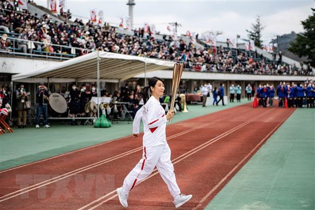 Lanh dao dang LDP Nhat Ban de cap kha nang huy Olympic Tokyo hinh anh 1