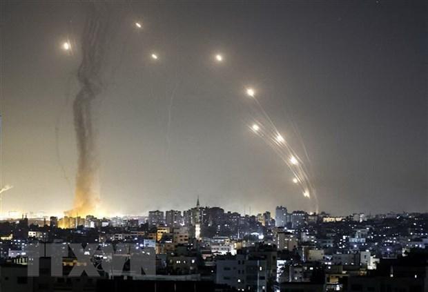 Luc luong Hamas tiep tuc ban nhieu ten lua vao khu vuc Tel Aviv hinh anh 1