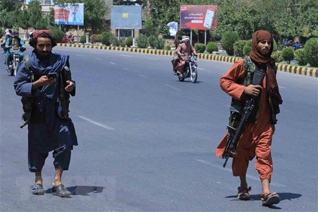 Quan Taliban bat dau tien vao thu do cua Afghanistan tu moi nga hinh anh 1