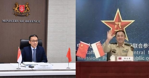 Singapore va Trung Quoc tang cuong hop tac quoc phong hinh anh 1
